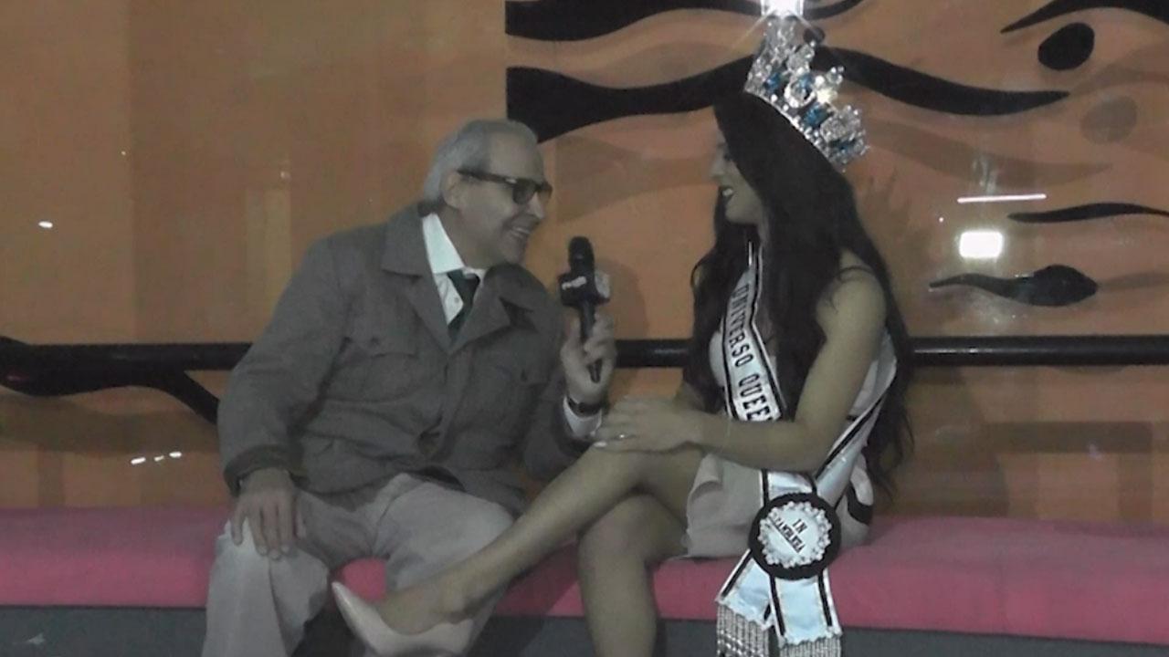 Intervista a Renata Fontana al Miss Universo Queen T in Campania 2017